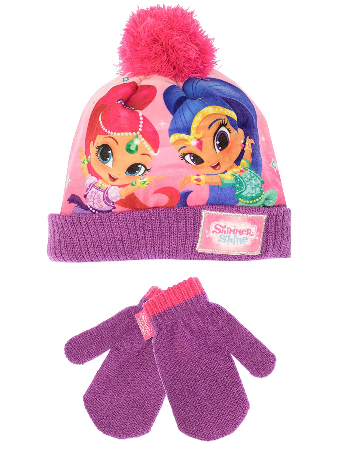 Shimmer /& Shine Girls Genies Hat and Gloves Set One Size