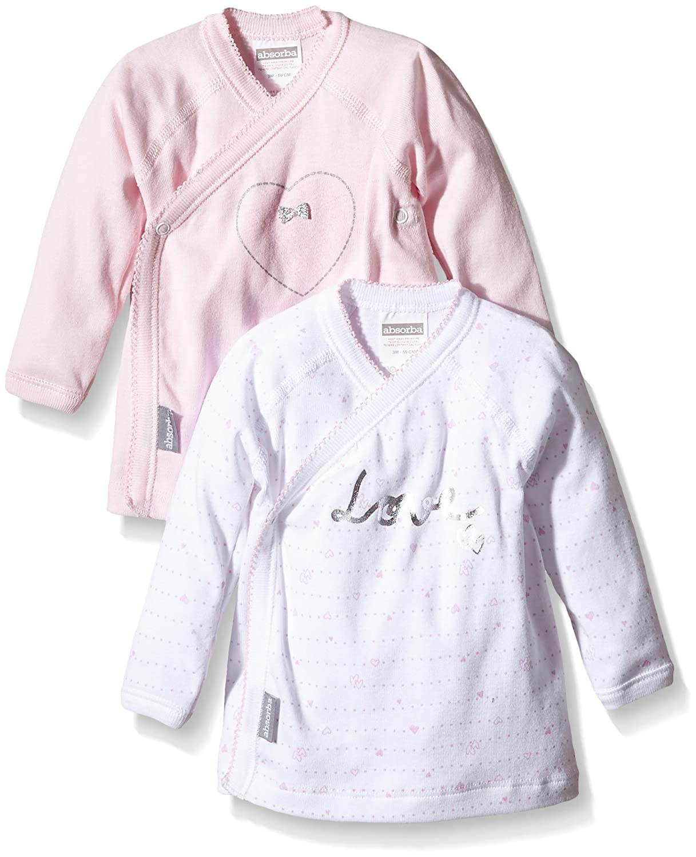 Absorba Baby Girls' Love Pink Vest Pack of 2 6H63006-EC