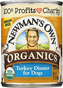 Newman's Own Organics Turkey Grain Free Dinner - Organic - Case of 12 - 12.7 oz.