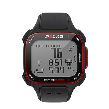 Polar RC3 GPS Reloj Deportivo - 90048174, Con frecuencia cardíaca, Negro: Amazon.es: Deportes y aire libre