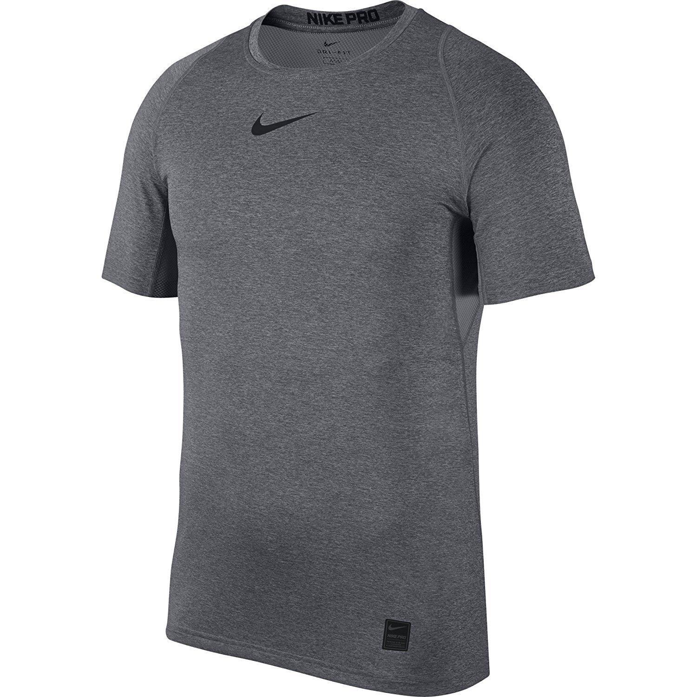 0714036f NIKE 838093-010: Pro Short Sleeve Top Mens Black White White T-Shirt (XL)  at Amazon Men's Clothing store: