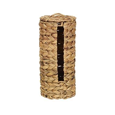 Household Essentials ML-6694 Wicker Toilet Tissue Paper Holder | Free Standing | Natural