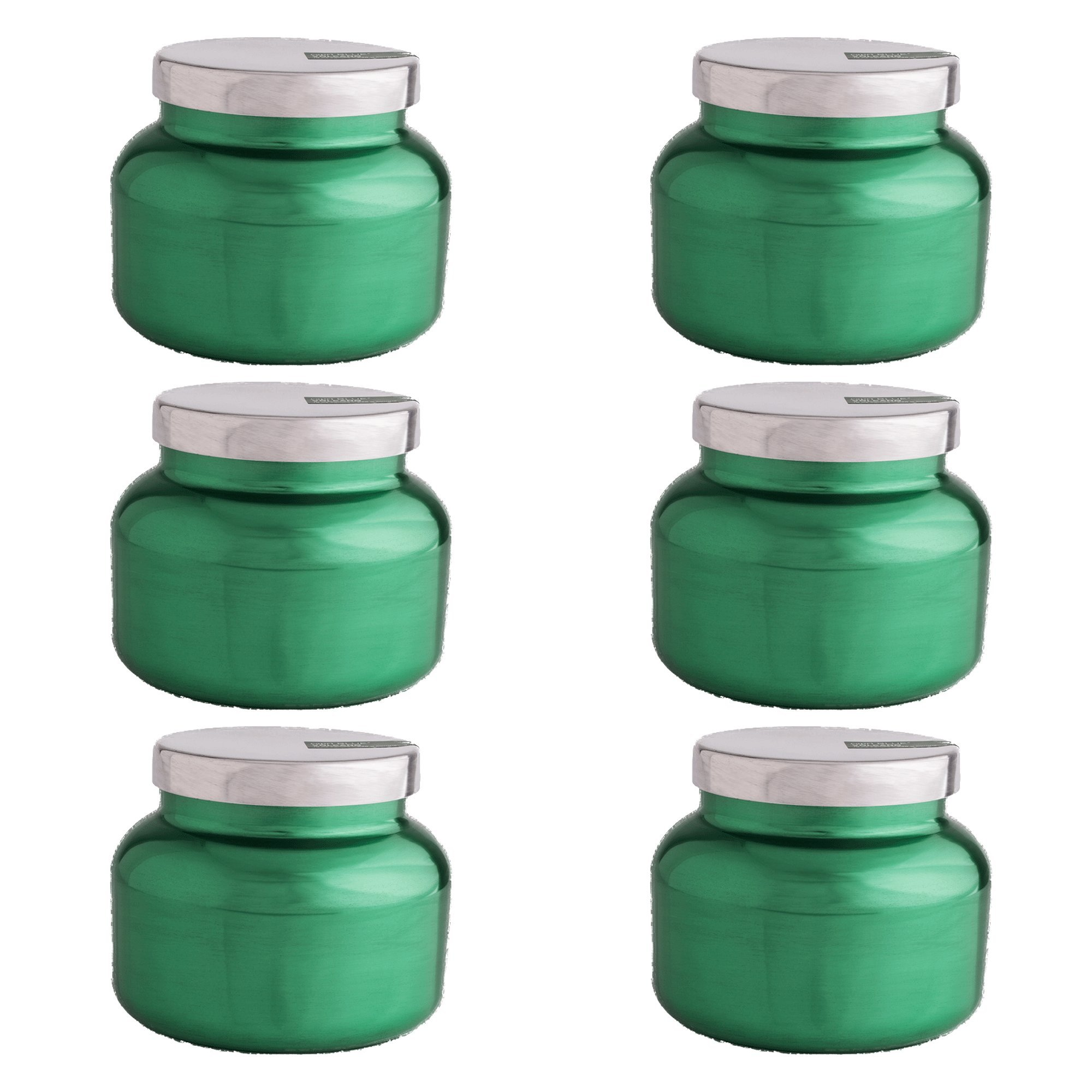 Capri Blue Women's 8 oz Volcano Metallic Holiday Jar Candle (6 pack), Assorted, One Size by Capri Blue