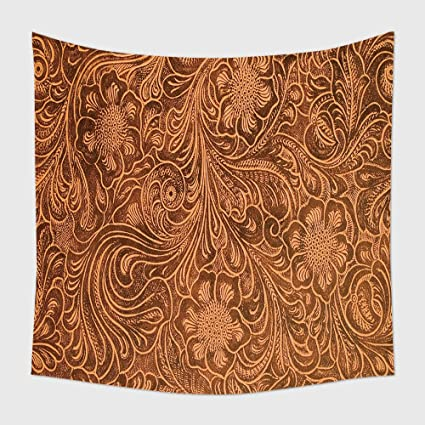 amazon com home decor tapestry wall hanging detail of fancy tooled