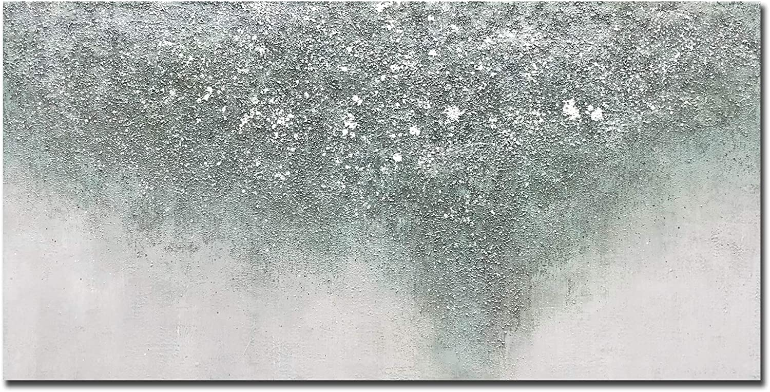 Tiancheng Art, 24x48 inch Contemporary Abstract Art Hand-Painted Oil Painting On Canvas Modern Home Decor Wall Art Painting Colorful Paintings Ready to hang