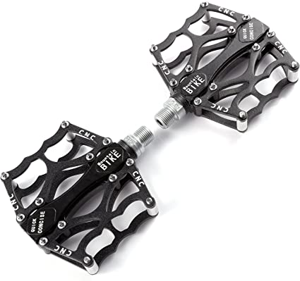 Aluminium Alloy Grip Durable 9//16 Mountain Bike Bicycle MTB BMX Flat Pedals