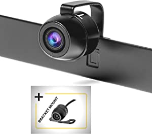 TOPTIERPRO IP68 Waterproof Back Up Camera 170° Viewing Angle 2-in-1 Install Method CMOS Color Lens Car Reversing Rear View/Side View/Front View, Reverse Camera