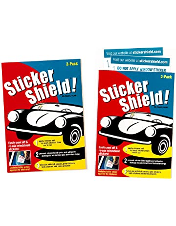 e90cdf54 Sticker Shield - Windshield Sticker Applicator for Easy Application,  Removal and Re-Application from