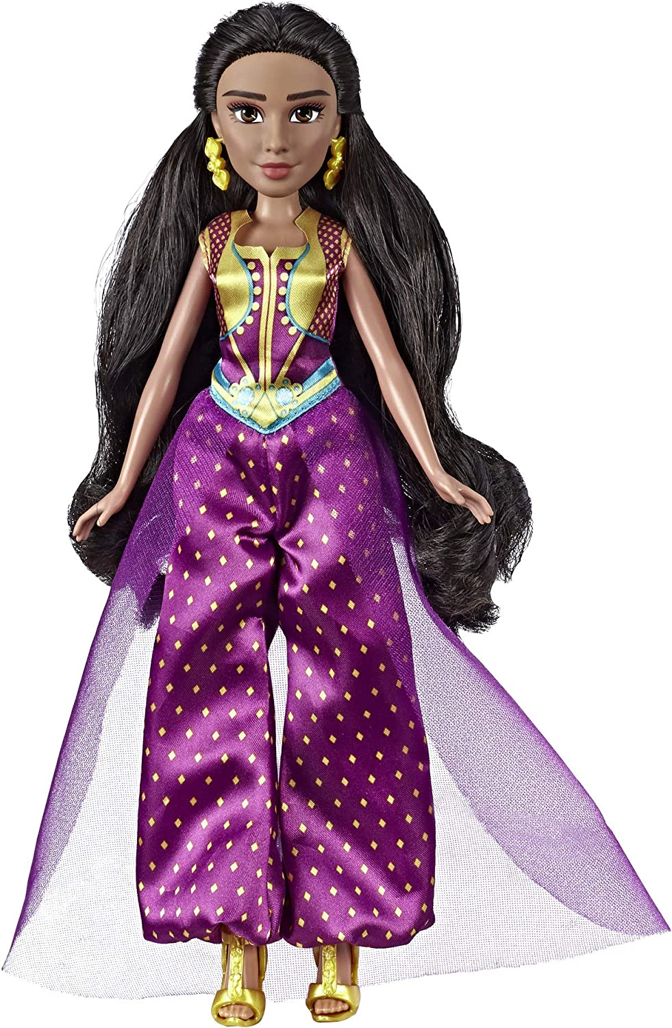 Amazon Com Disney Princess Jasmine Fashion Doll With Gown Shoes Accessories Inspired By Disney S Aladdin Live Action Movie Toy For 3 Year Olds Toys Games