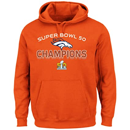 82eab5635 Majestic Athletic Denver Broncos Super Bowl 50 Champs Champions Beyond  Victory Orange Sweatshirt Small