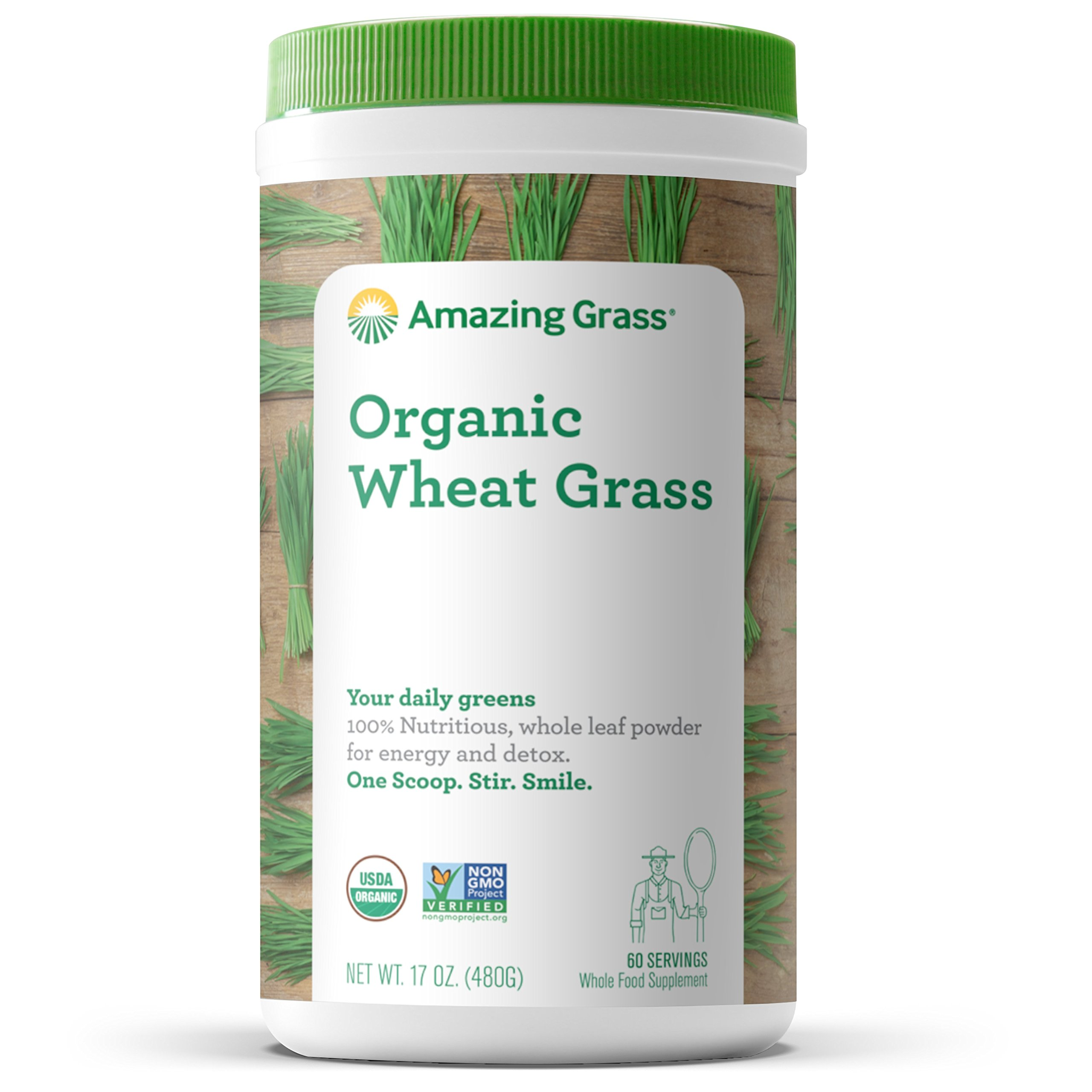 Amazing Grass Organic Wheat Grass Powder, 60 Servings