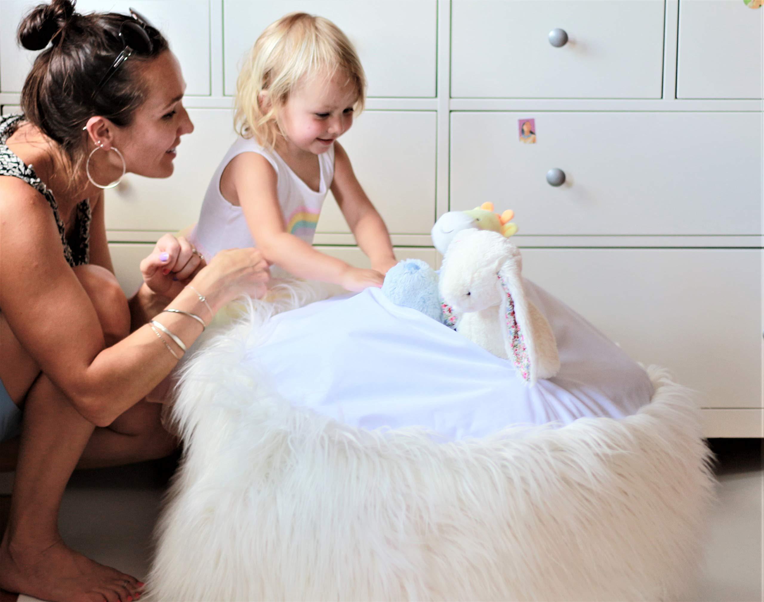 MiniOwls Toy Storage Solution Furry Bean Bag Plush by MiniOwls