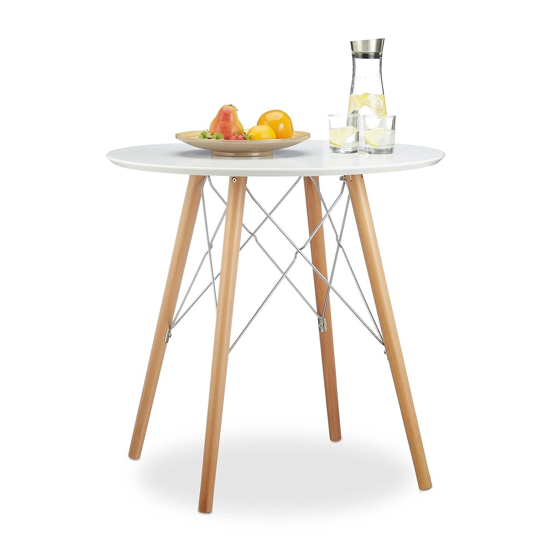 Relaxdays Küchentisch klein ARVID 72 x 75 x 75 cm HxBxT, Esstisch ...