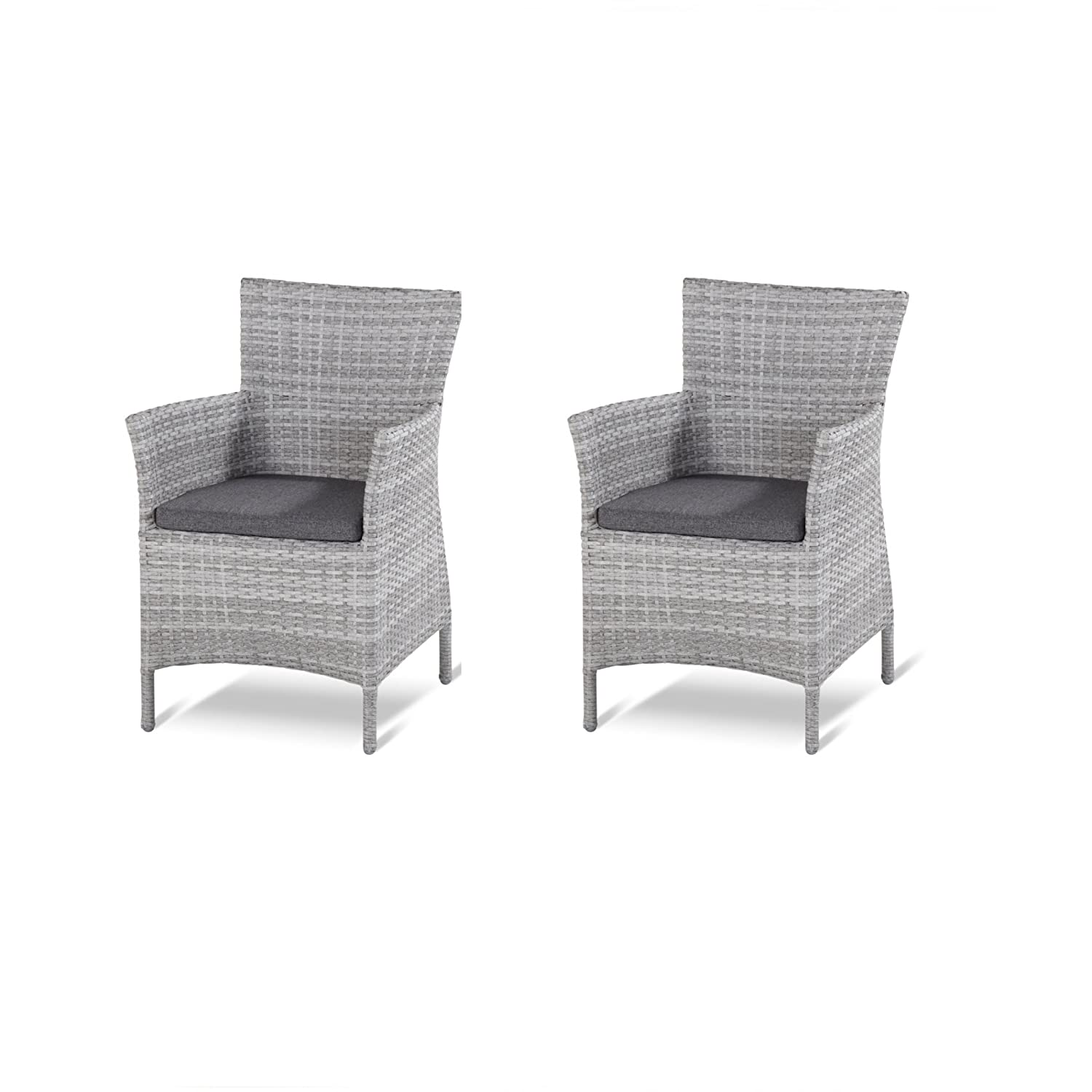 2 Stück Hartman Dining Chair Java Loungesessel royal grey flat 72122799