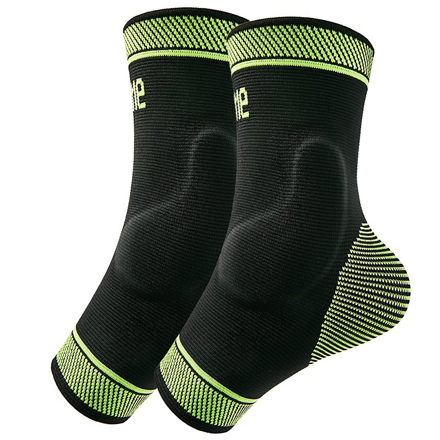 Protle Adjustable Foot Socks, Ankle Brace Compression Support Sleeve with Silicone Gel, Arch Support - Boosts Recovery from Joint Pain, Sprain, Plantar Fasciitis (Pair, Large)