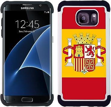 Graphic4You España bandera española Carcasa Funda de Doble Capa Revestimiento con Protección Anti-Golpes y Anti-Arañazos para Samsung Galaxy S7 Edge: Amazon.es: Electrónica