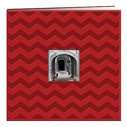 Amazon Pioneer Embossed Post Bound Scrapbook Album 12x12 Red