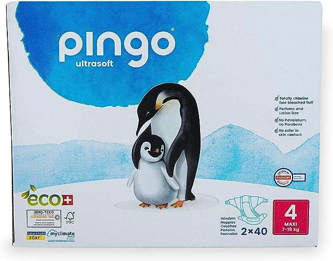 Pingo Pañales ecológicos Talla 4 Maxi