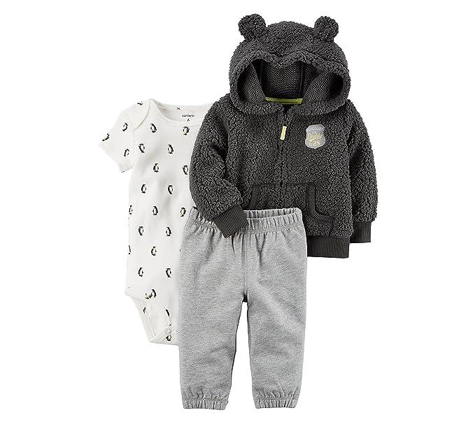 Carter S Baby Boys 3 Piece Little Jacket Penguin Set 3 Months
