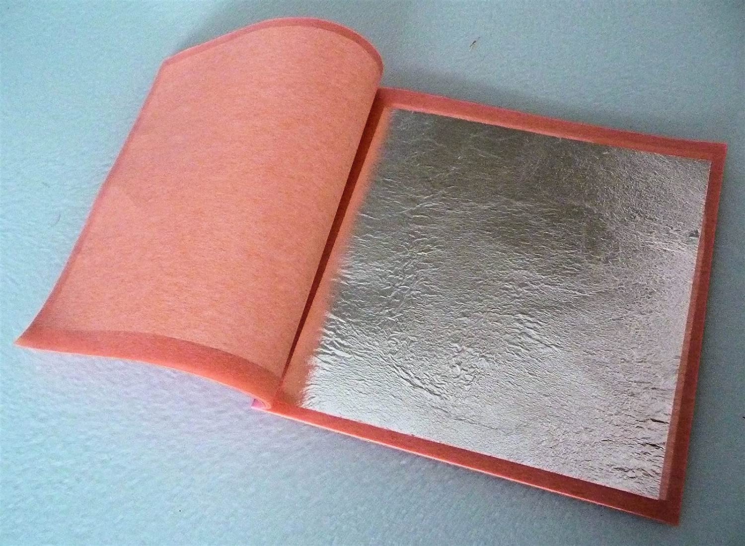 25x 95mm Pure 999 Silver Edible Loose Leaf Sheets in Booklets, Huge! 9.5cm 3.75
