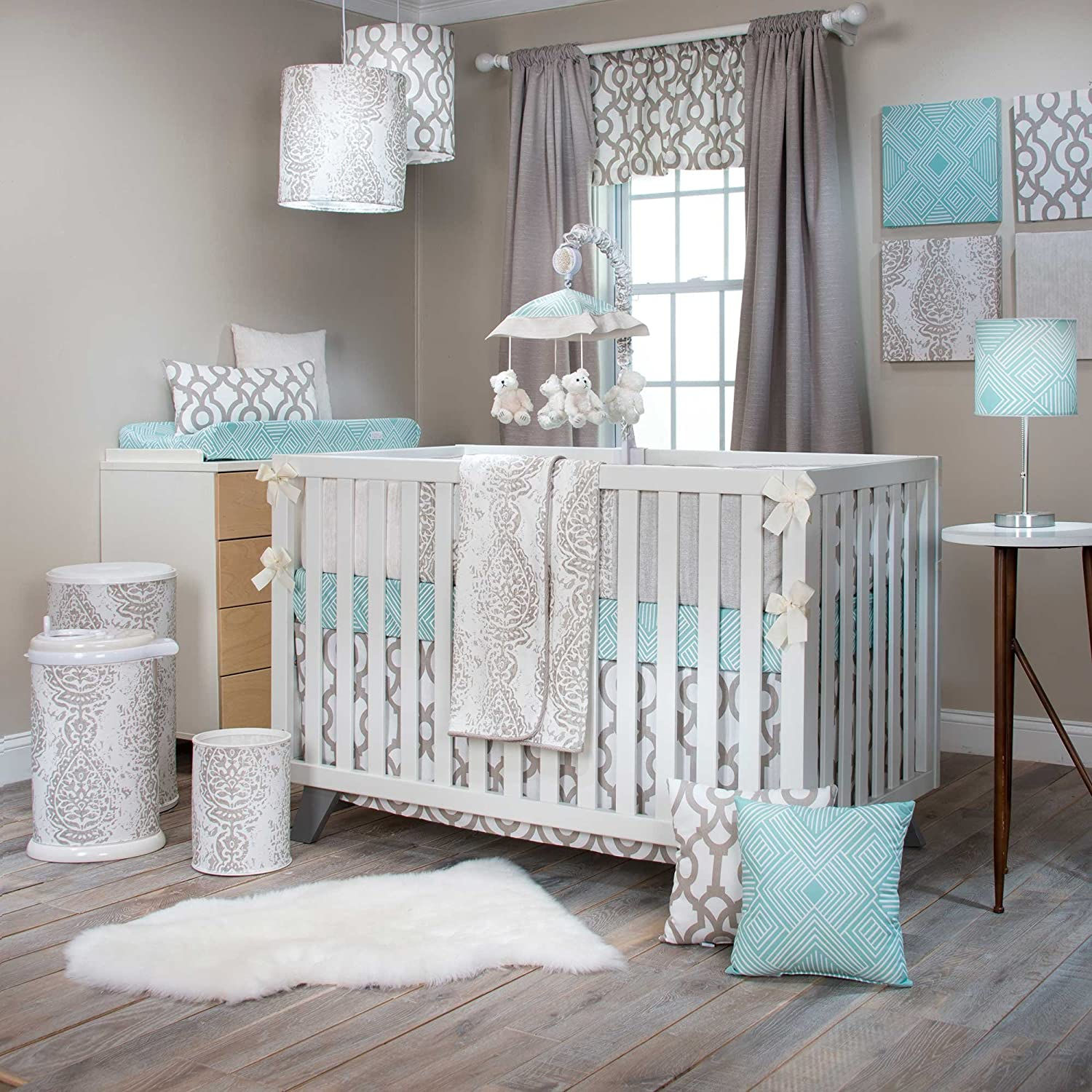 Soho 4 Piece Crib Bedding Set with Bumper by Sweet Potato by Glenna Jean   B019YQZIR0