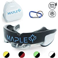 Mapley Mouth Guard Gum Shield - For Boxing, MMA, Hockey, Rugby, Martial Arts, Kickboxing, Lacrosse, Contact Sports - Mouldable Gumshield & Free Carry Case - Adults/Kids +12