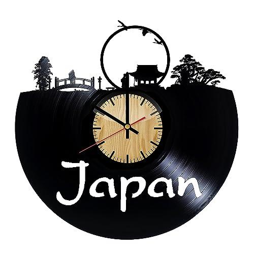 Amazon Com Japan Travel Vinyl Wall Clock Handmade Gift For Any Occasion Unique Birthday Wedding Anniversary Wall Decor Ideas For Any Space Handmade