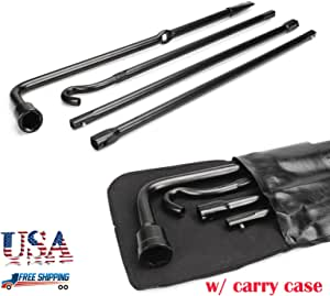 Tire Wrench Set 4-Piece For 2009 2010 Ford F-150 Scissor Jack with Storage Case
