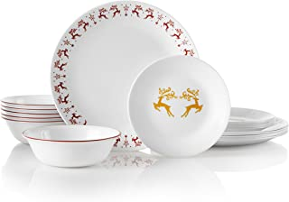 product image for Corelle Service for 6, Chip Resistant, Dancer Prancer dinnerware sets, 18-piece