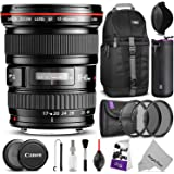Canon EF 17-40mm F/4L USM Ultra Wide Angle Zoom Lens w/ Essential Bundle - Includes: Camera Sling Backpack, Lens Hood, Altura Photo UV-CPL-ND4, Camera Cleaning Kit