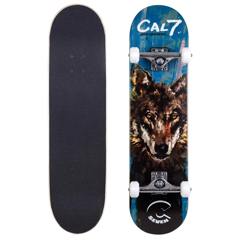 超人気 Cal 7 5.25インチTrucks Complete 8インチスケートボード、Popsicleスタイルwith 100 5.25インチTrucks & 100 Aホイール子供&大人(8 B07G2NYQGV