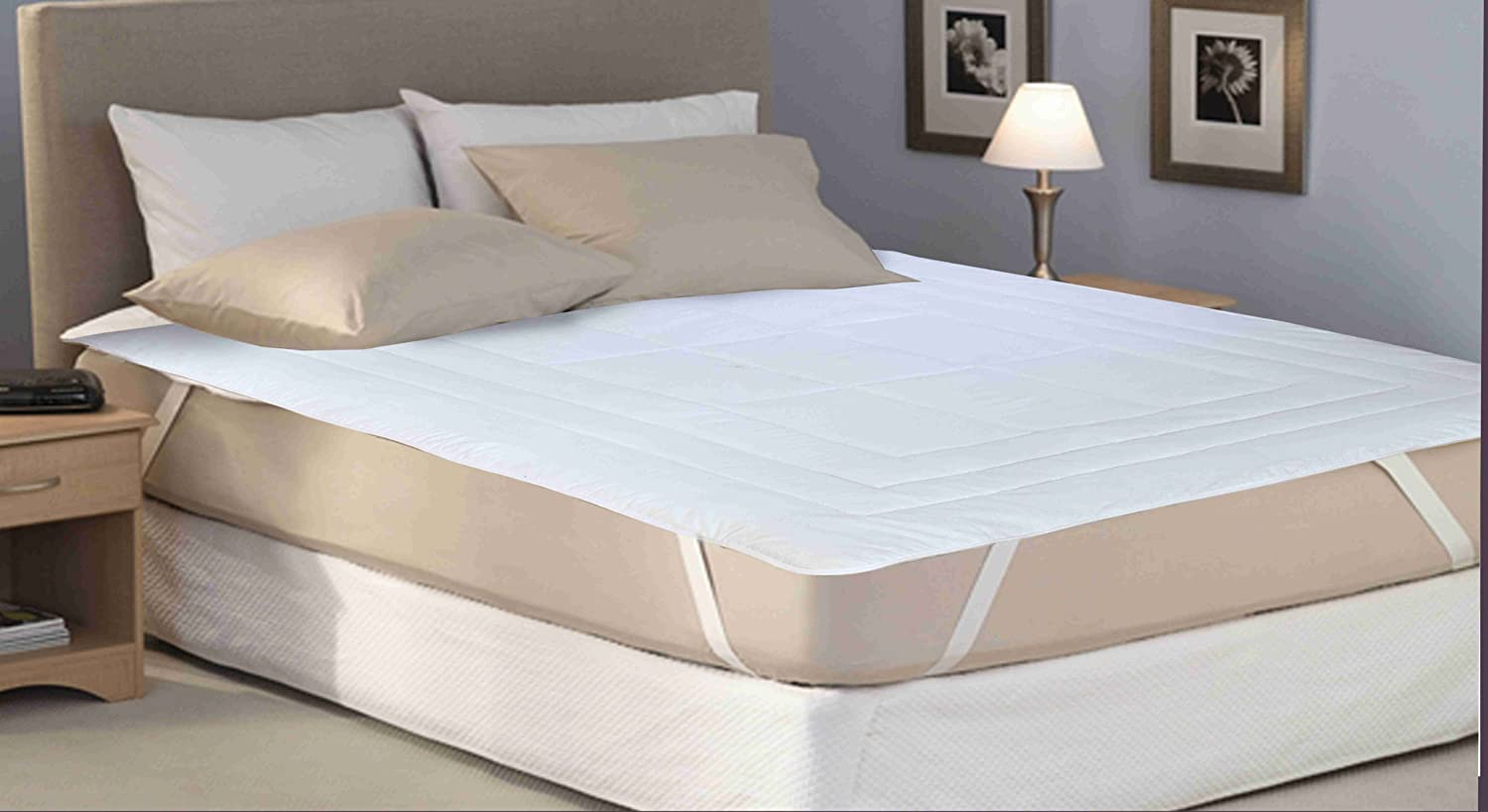 SleepyNights COMFORT HOTEL QUALITY MATTRESS TOPPER//PROTECTOR//REVIVER//ENHANCER SUPERKING HOLLOWFIBRE FILLING POLY COTTON STICHING