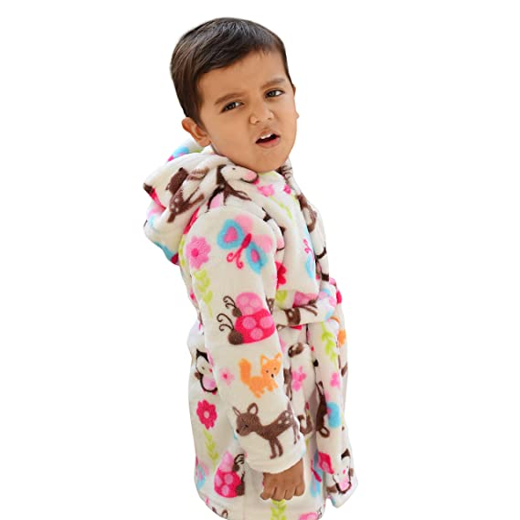 a41ecbaab Motherly Boy s and Girl s Bathrobe Bath Towel and Gown (Animal Park ...