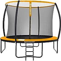 SONGMICS tuintrampoline, 12 ft ronde trampoline met veiligheidsnet, ladder, gewatteerde boogstokken, TÜV Rheinland…