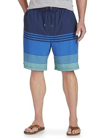 7b9739b7c75ea Rochester by DXL Big and Tall Ombre Colorblock Stripe Swim Trunks |  Amazon.com