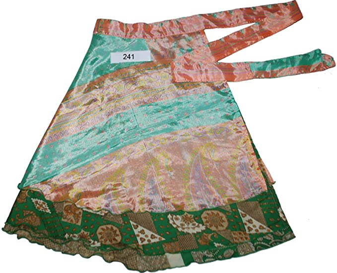 9c371860b24e7 Wevez Short Reversible Silk Blended Wrap Peasant Skirt (241) at ...