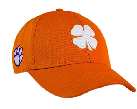 Black Clover White Orange Orange Clemson Premium Fitted Hat at ... 90411f415ca
