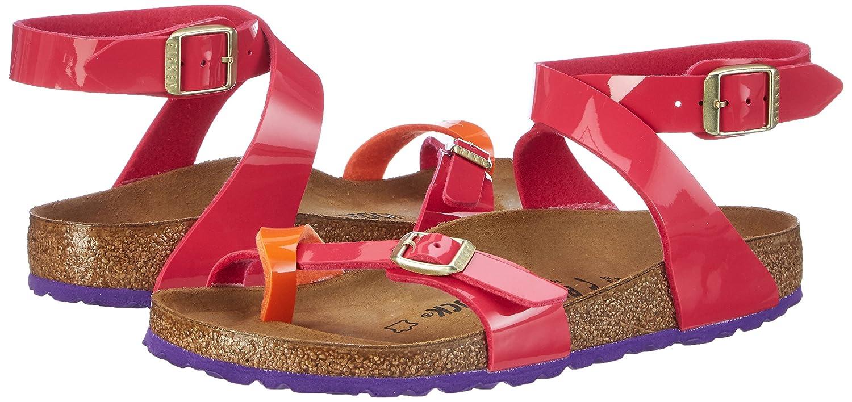 Birkenstock Women's Yara Birko Flor Sandals Tropical Orange Pink Patent 36 N