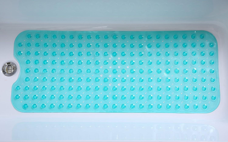 "Amazon.com: Tike Smart Extra-Long Non-Slip Bathtub Mat 39""x16""(for ..."