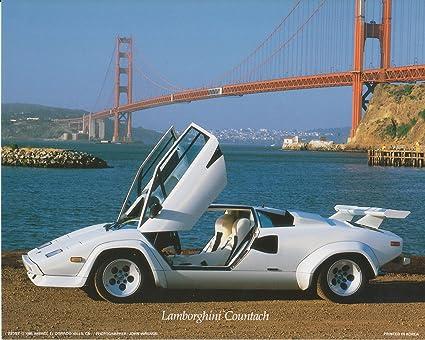 Amazon Com Lamborghini Countach Car Along The Golden Gate Bridge