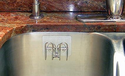 Amazon stickernizer non suction cup kitchen sink sponge holder stickernizer non suction cup kitchen sink sponge holder ksh st 02 workwithnaturefo