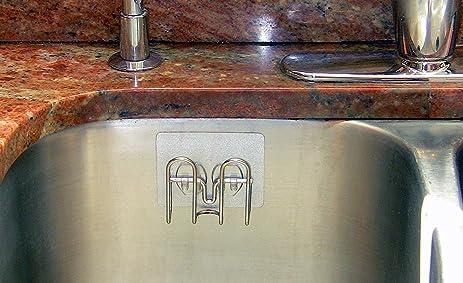 stickernizer non suction cup kitchen sink sponge holder ksh st 02