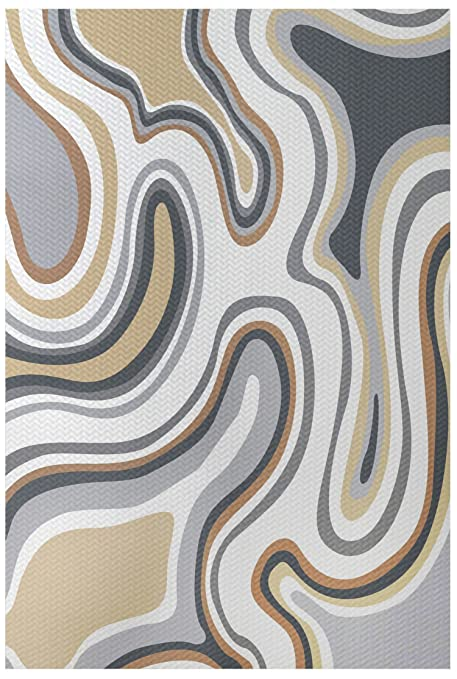 Amazon Com E By Design Rgn420ta9 35 Agate Geometric Print Indoor
