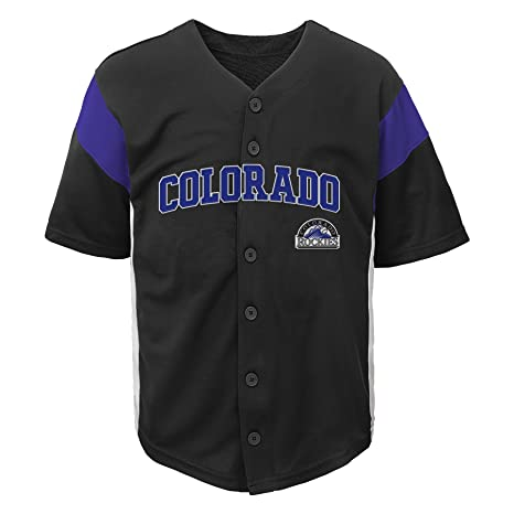 e6af8e4b9 ... where to buy outerstuff mlb colorado rockies boys fashion jersey black  2t f9271 00b07
