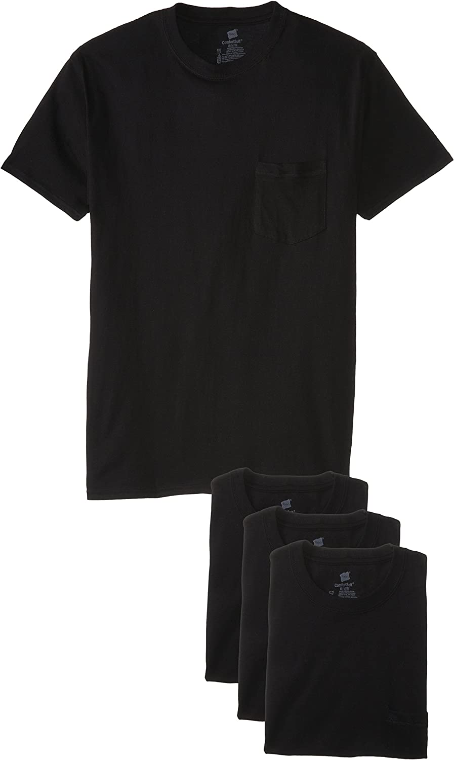Hanes Mens 4-Pack Assorted V-Neck