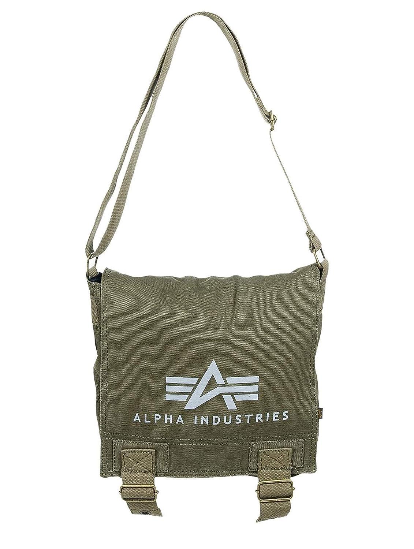 5b342201ce Alpha Industries Men Accessories Bag Big A Canvas olive Standard size   Amazon.co.uk  Clothing