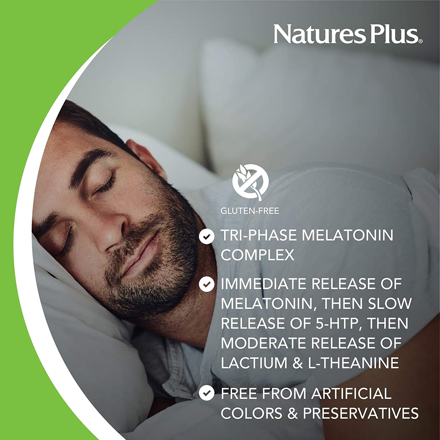 Amazon.com: Natures Plus Dreaminol - 1.5 mg Melatonin, 30 Sustained Release Tablets - Maximum Strength Sleep Support with Lactium, L-Theanine and 5-HTP - 30 ...