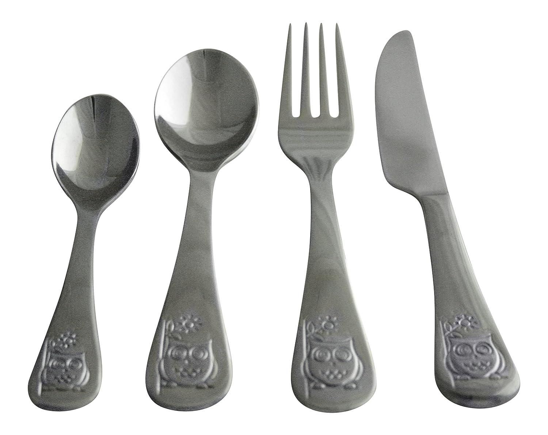 Amazon.com: Oneida Kids 4 piezas Juego de cubiertos de acero ...