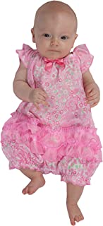 product image for Laura Dare Baby Girls Blossoms Frilly Romper