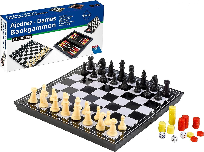 Falomir Ajedrez, Damas y Backgammon, Juego de Mesa, Clásicos, 23 ...